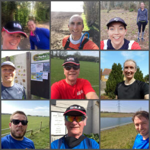 Running selfies